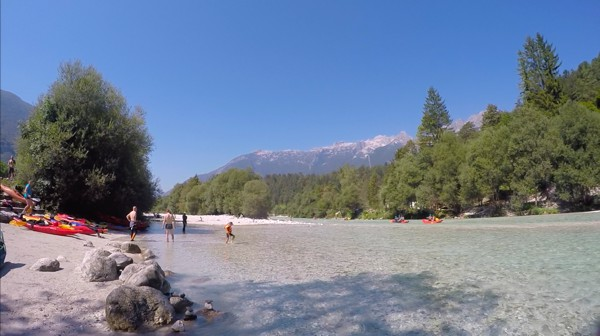 Kayaking on the Soca in Bovec, Slovenia 006