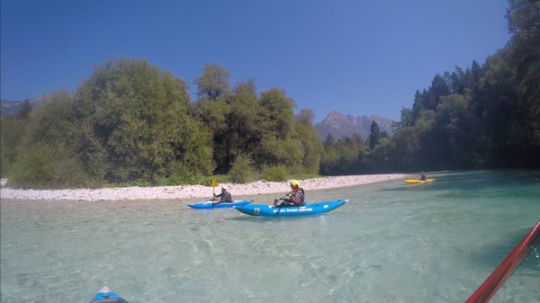 Kayaking on the Soca in Bovec, Slovenia 002
