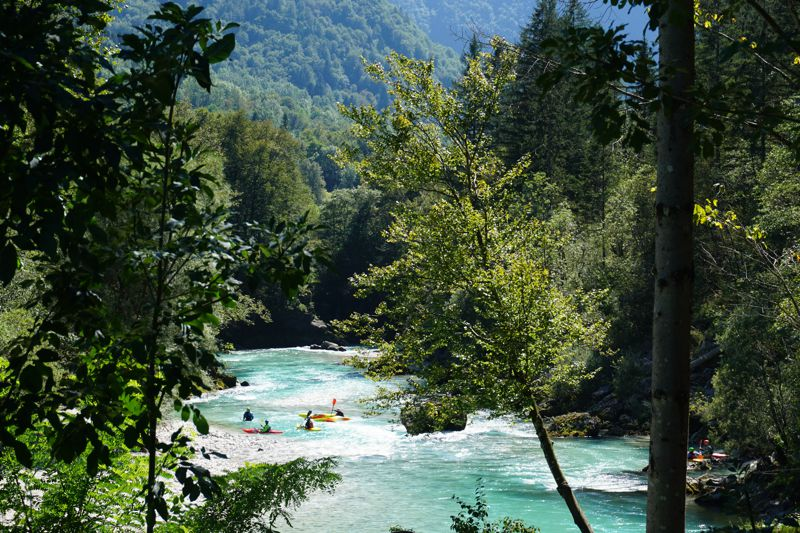 Kayaking on the Soca in Bovec, Slovenia 004