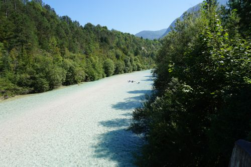 Kayaking on the Soca in Bovec, Slovenia 008