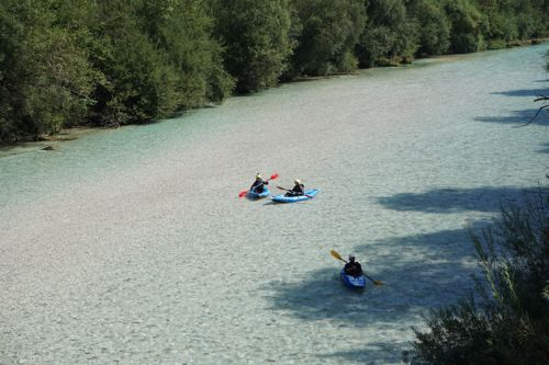 Kayaking on the Soca in Bovec, Slovenia 009