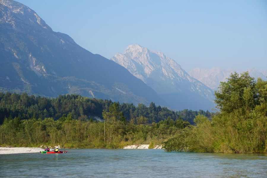 Kayaking on the Soca in Bovec, Slovenia 005